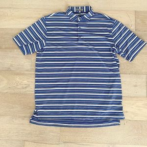 Peter millar summer comfort striped polo blue large